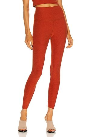 Beyond Yoga Spacedye Caught in the Midi High Waisted Legging in Rust