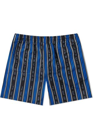Balenciaga Men Swim Shorts - Logo Striped Swim short