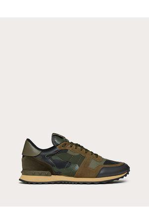 VALENTINO GARAVANI Men Sneakers - Camouflage Rockrunner Sneaker Man / 100% Pelle Di Vitello - Bos Taurus 43.5