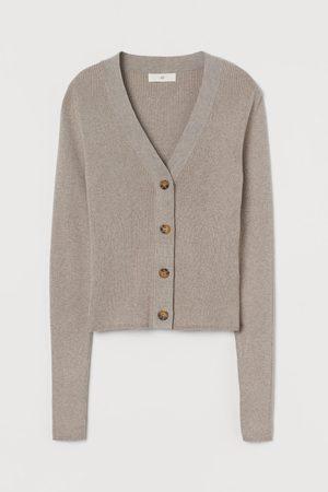 H & M Women Cardigans - Rib-knit Cardigan