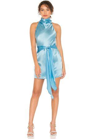 Amanda Uprichard Sandrine Dress in Baby Blue.