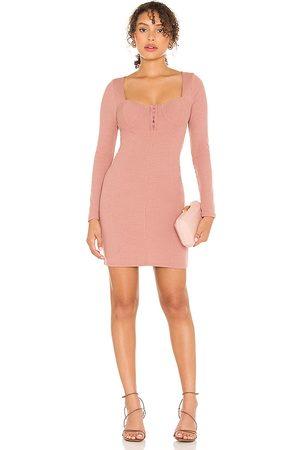 ASTR Women Bodycon Dresses - Hook & Eye Bodycon Dress in Blush.