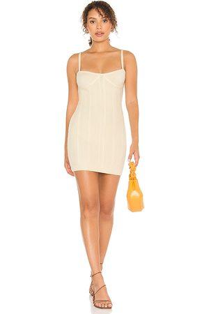 MAJORELLE Emery Dress in Ivory.