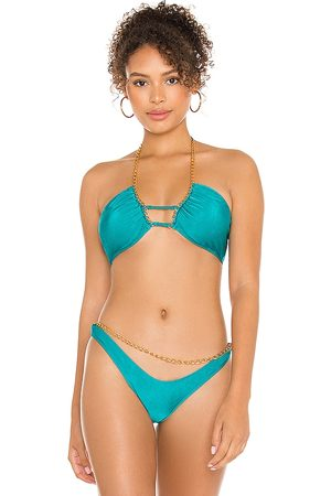 Michael Costello X REVOLVE Monica Top in Teal.