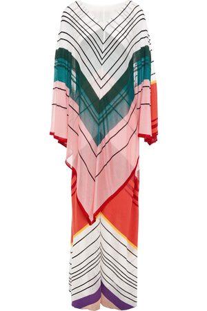 Missoni Women Knitted Dresses - Woman Layered Striped Crochet-knit Maxi Dress Size 40