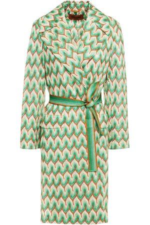 MISSONI Women Coats - Woman Metallic Crochet-knit Coat Size 40