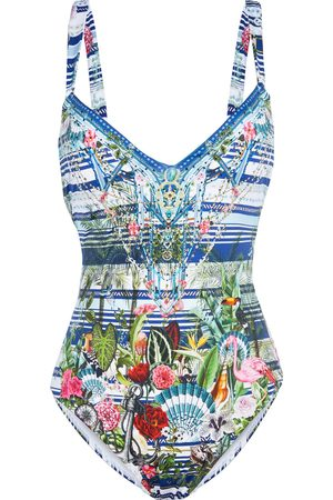 Camilla Women Swimsuits - Woman Solishea Crystal-embellished Printed Swimsuit Size L