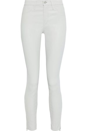 J Brand Women Leather Pants - Woman L8001 Stretch-leather Skinny Pants Light Size 23