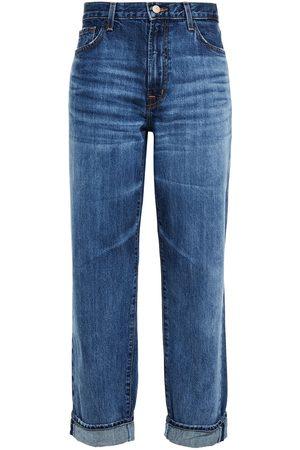 J Brand Women Boyfriend Jeans - Woman Tate Faded Boyfriend Jeans Mid Denim Size 24