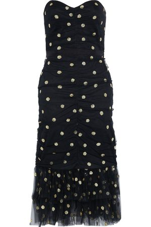 Marchesa Notte Woman Strapless Sequin-embellished Ruched Tulle Dress Size 8