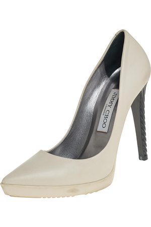 Jimmy Choo Leather Pointed Toe Platform Pumps Size 37