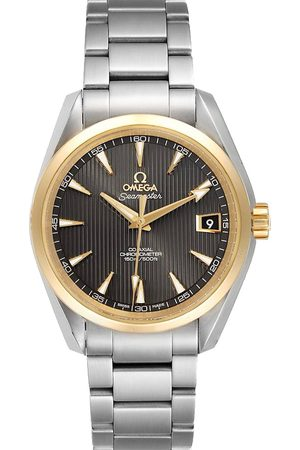 Omega Men Watches - Grey 18k Yellow Gold And Stainless Steel Seamaster Aqua Terra 231.20.39.21.06.004 Men's Wristwatch 41.5 MM