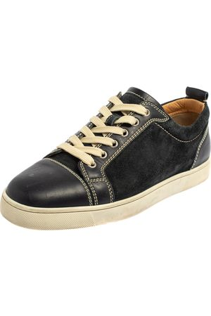 Christian Louboutin Boys Sneakers - Suede And Leather Louis Junior Sneakers Size 42