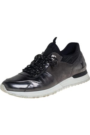 LOUIS VUITTON Men Sneakers - /Grey Patent Leather And Suede Runner Sneakers Size 42.5