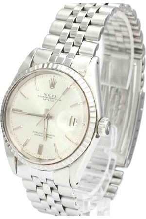 Rolex 18K White Gold And Stainless Steel Datejust 1603 Vintage Men's Wristwatch 36 MM