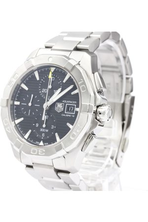 Tag Heuer Stainless Steel Aquaracer Calibre 16 Chronograph CAY2110 Men's Wristwatch 43 MM