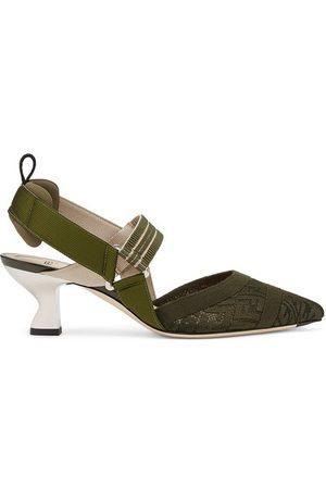 Fendi Micromesh Slingbacks With A Medium Heel