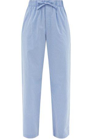 Tekla Drawstring Organic-cotton Poplin Pyjama Trousers - Womens - Stripe