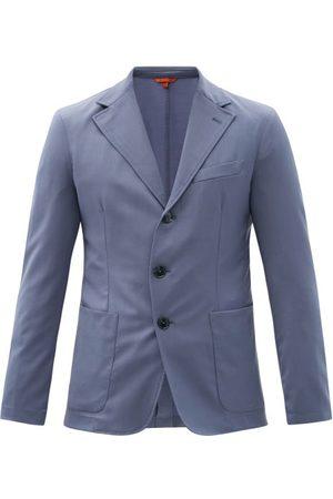 BARENA Piero Elga Wool-blend Sharkskin Suit Jacket - Mens - Light