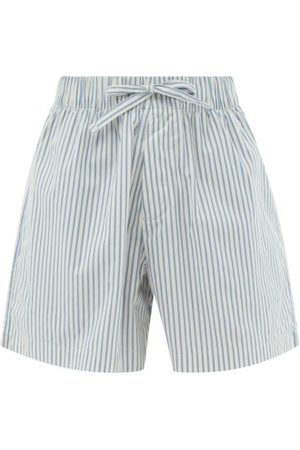 Tekla Women Pajamas - Striped Organic-cotton Pyjama Shorts - Womens - Stripe