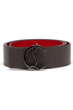 Christian Louboutin Monogram-buckle Leather Belt - Mens