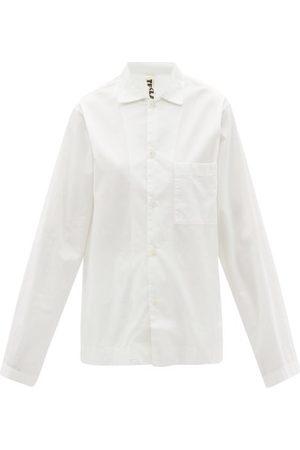 Tekla Women Pajamas - Organic-cotton Poplin Pyjama Shirt - Womens