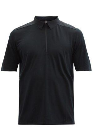 Veilance Frame Zipped Merino Wool-blend Jersey Polo Shirt - Mens