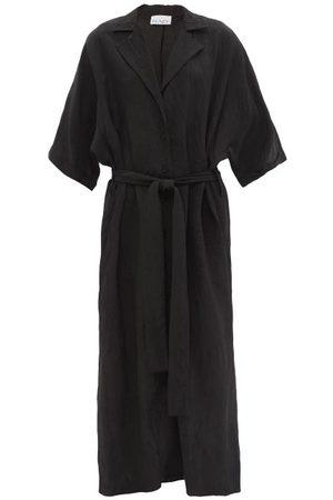 Raey Women Casual Dresses - Dolman-sleeve Creased Shirt Dress - Womens