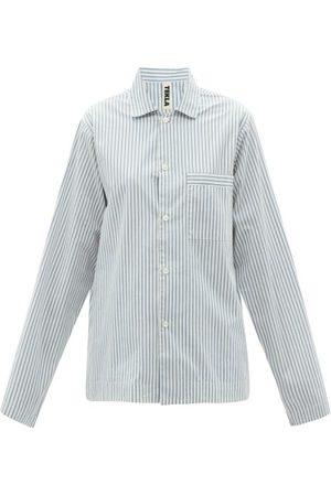 Tekla Striped Organic-cotton Poplin Pyjama Shirt - Womens - Stripe