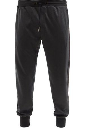 Paul Smith Men Sweatpants - Side-stripe Wool-jersey Track Pants - Mens - Dark Khaki