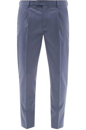 BARENA Titanane Wool-blend Sharkskin Suit Trousers - Mens - Light