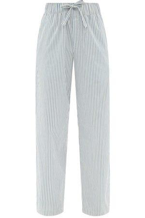 Tekla Striped Organic-cotton Poplin Pyjama Trousers - Womens - Stripe