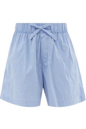 Tekla Striped Organic-cotton Pyjama Shorts - Womens - Stripe