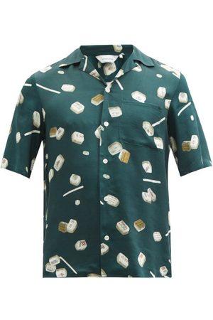 Nipoaloha Mahjong-print Poplin Shirt - Mens - Dark