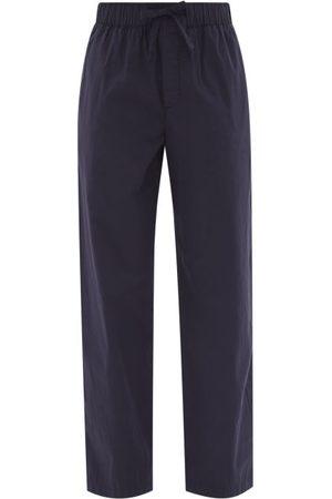 Tekla Women Pajamas - Drawstring Organic-cotton Pyjama Trousers - Womens - Navy