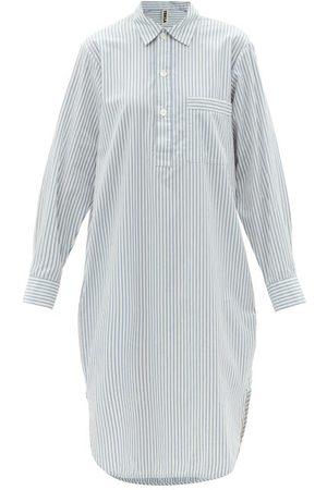 Tekla Striped Organic-cotton Nightdress - Womens - Stripe