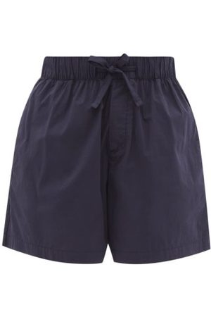 Tekla Organic-cotton Pyjama Shorts - Womens - Navy