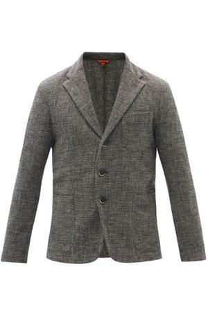 Barena Venezia Torceo Single-breasted Wool-blend Jacket - Mens - Dark Grey