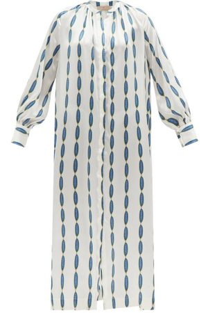 Themis Z Jewel-print Silk-satin Shirt Dress - Womens - Multi