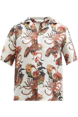 Nipoaloha Cockerel-print Silk Short-sleeved Shirt - Mens - Multi