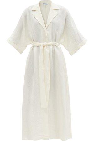 Raey Dolman-sleeve Creased Shirt Dress - Womens - Ivory