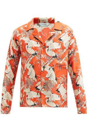 Nipoaloha Crane-print Silk-twill Shirt - Mens - Multi