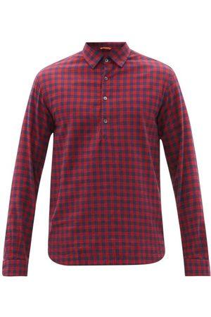 BARENA Men Shirts - Pavan Half-button Cotton-tartan Shirt - Mens - Multi