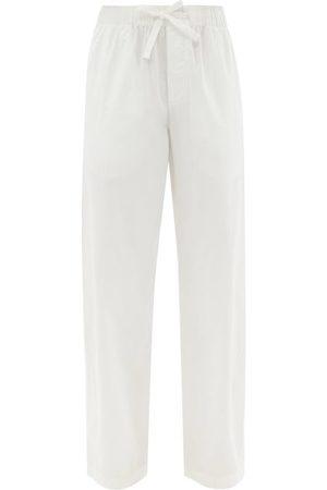 Tekla Drawstring Organic-cotton Pyjama Trousers - Womens