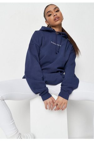 Missguided Women Hoodies - Tall Navy Washed Basic Hoodie