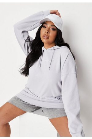 Missguided Women Hoodies - Plus Size Lilac Washed Hoodie