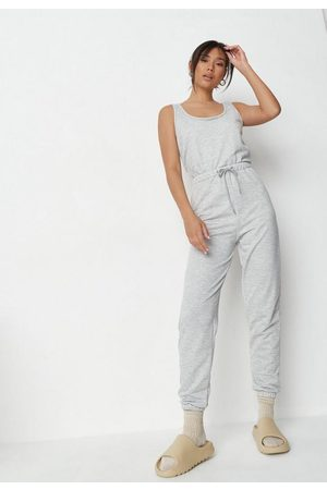 Missguided Women T-shirts - Tall Scoop Neck Cuffed Jogger Romper