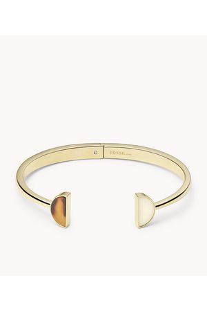 Womens Women Bracelets - Fossil Women's Tortoise Stainless Steel Bangle Bracelet