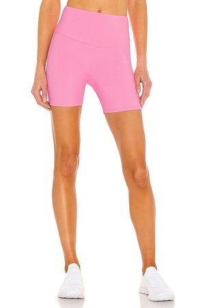 Onzie Women Sports Shorts - Rib Bike Short in White.