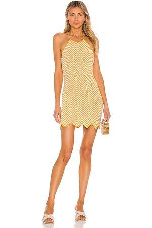 Ronny Kobo Chantal Knit Dress in Mustard.